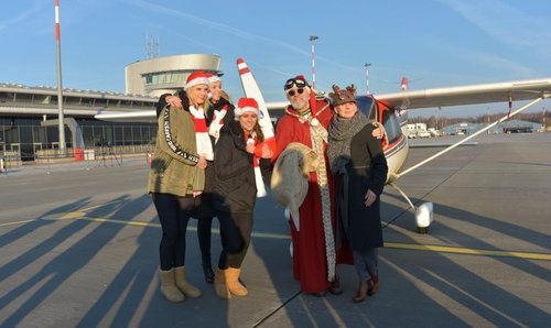 Santa Claus landed at the Lodz Airport